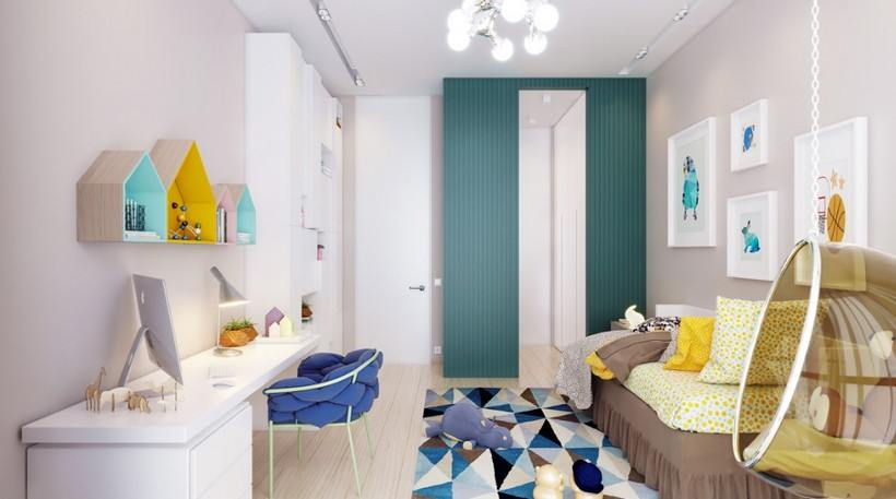 40 идей зонирования комнаты для родителей и ребенка
