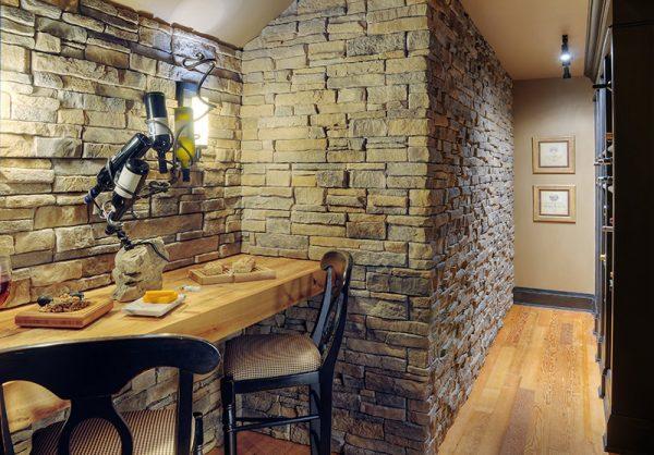 Декоративный камень в прихожей — фото дизайна, технология отделки
