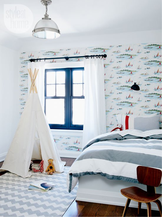 Детская комната в морском стиле для мальчиков: отделка, подбор мебели, фото