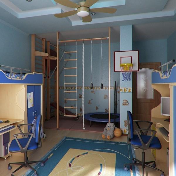 Детская мебель для мальчика: территория игры и познания