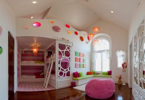 Дизайн детской маленькой комнаты для девочки: оформление интерьера, фото примеров