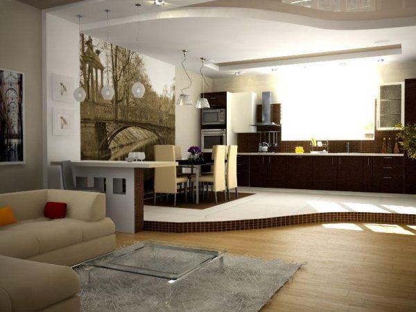 Дизайн кухни в частном доме: советы по оформлению и планировке, фото идеи