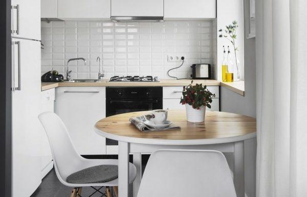 Дизайн маленькой кухни 5 кв м с холодильником: варианты планировки, фото идей