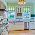 Дизайн штор для кухни: выбор модели, расцветки, материалов, фото в интерьере