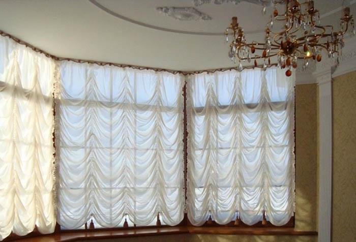 Французские шторы – шарм европейской роскоши в фото