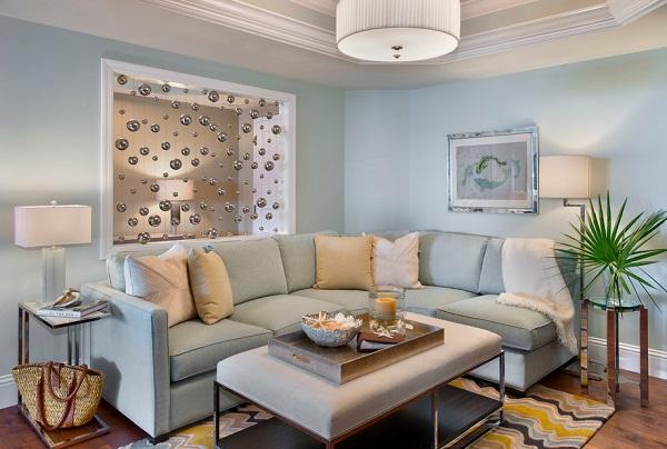 Голубая гостиная: освежит и расслабит