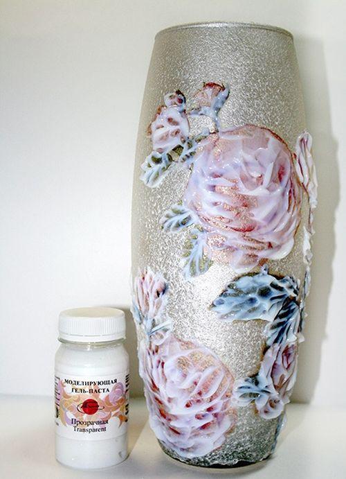 Идеи декупажа стеклянной вазы