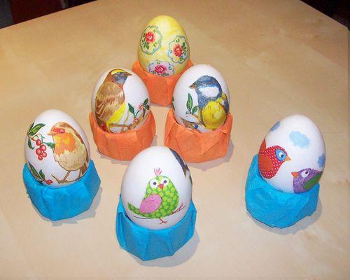 Идеи и техники декупажа пасхальных яиц