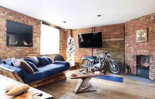 Идеи как оформить зал в стиле лофт