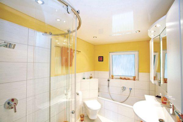 Из чего лучше сделать потолок в ванной комнате, виды потолков, фото в интерьере