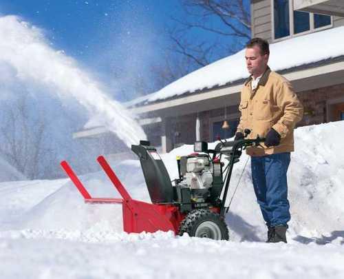 Как работает снегоуборщик? в фото