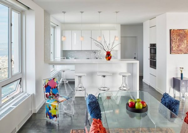 Кухня-студия: фото дизайна, советы по оформлению интерьера, способы зонирования