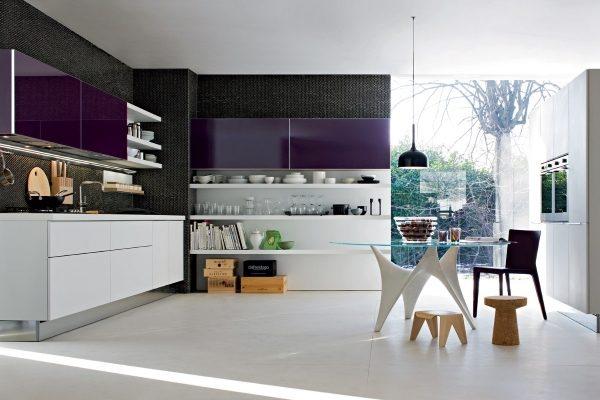 Кухня в синем цвете: особенности цвета, выбор правильного сочетания, фото дизайнов