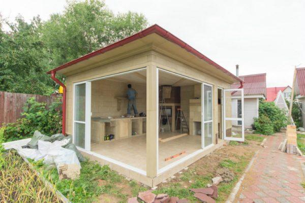 Летняя кухня на даче своими руками — фото проектов