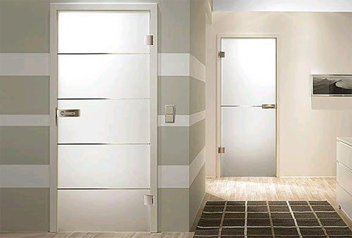 Межкомнатные стеклянные двери: Фото
