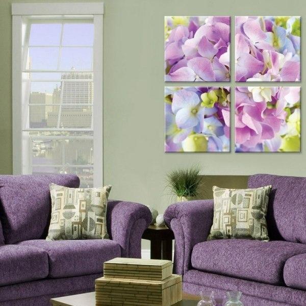 Модульные картины в интерьере гостиной — свежие фото, изысканный дизайн, хороший вкус