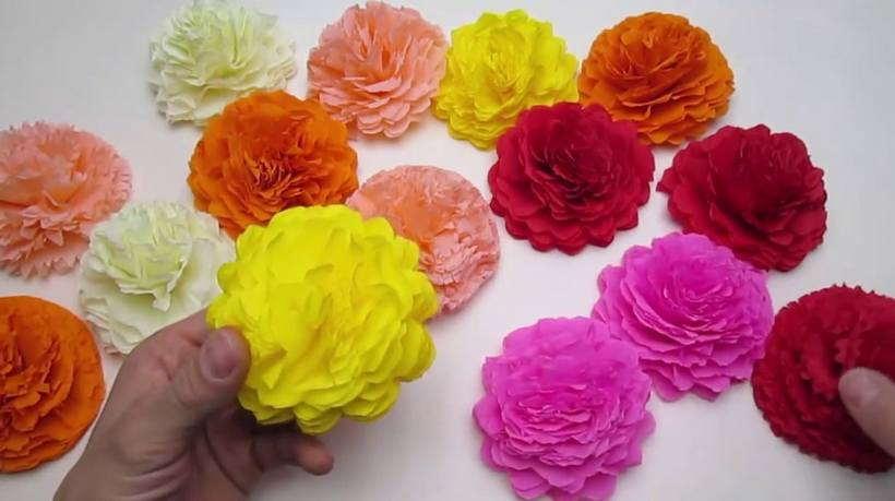 Объемные цветы из бумаги: шаблоны и мастер-класс изготовления своими руками