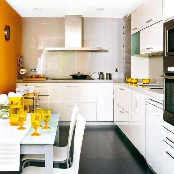Оранжевая кухня в интерьере — удачные сочетания, особенности освещения, дизайн фото