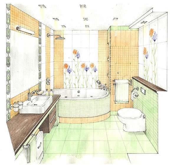 Плитка для ванной комнаты: способы укладки, фото дизайна для маленькой площади