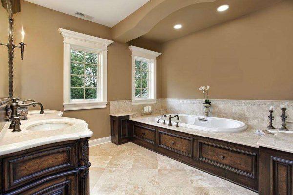 Покраска стен в ванной комнате вместо плитки: выбор краски, дизайн фото