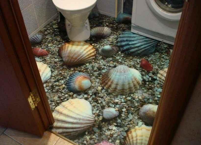 Полимерные наливные полы 3Д — 50 фото в интерьере