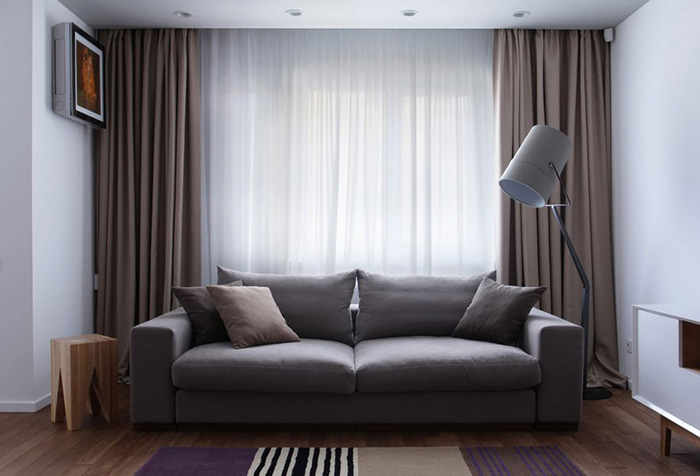 Портьерные шторы: подчеркиваем преимущества дизайна в фото