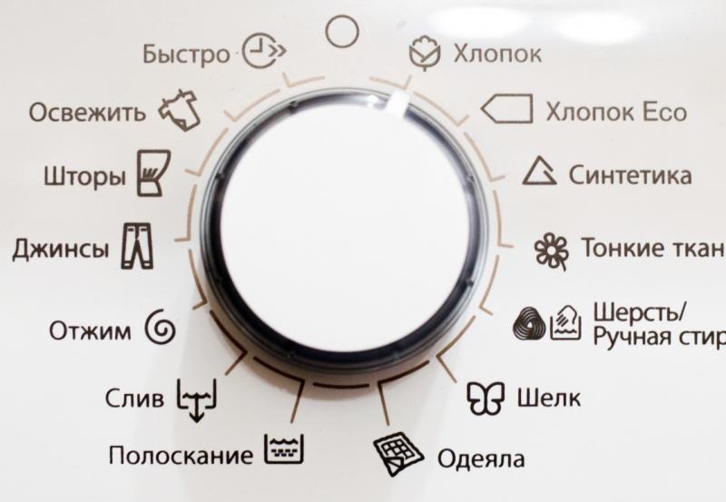 Режимы и функции в стиральной машине в фото