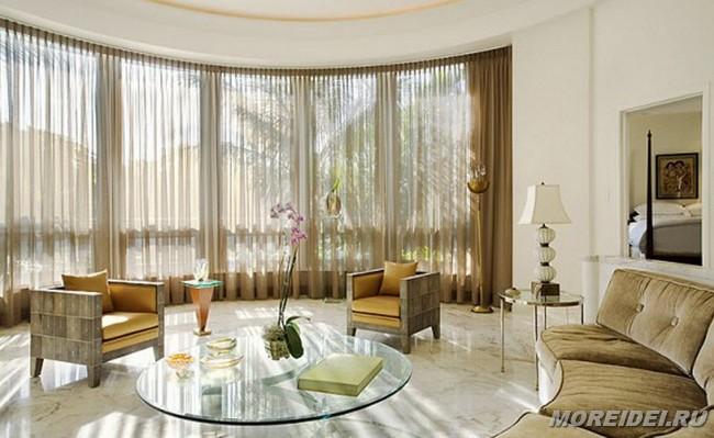 Шторы для гостиной — 50 красивых идей декора