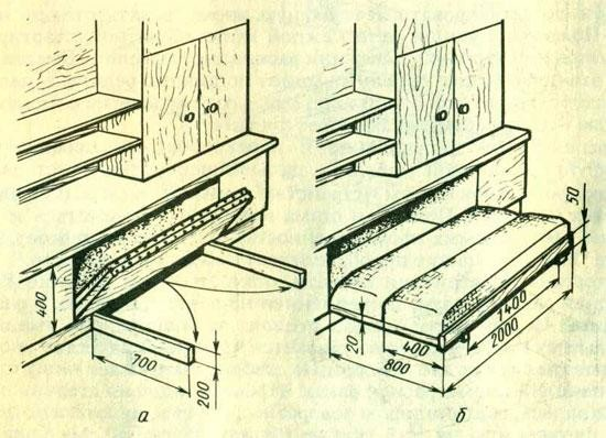 Складная кровать своими руками: особенности конструкции в фото