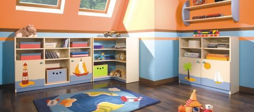 Стеллажи для игрушек в детскую комнату