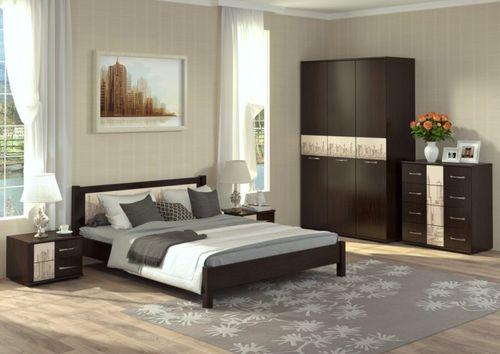 Стильные идеи интерьера спальни цвета венге
