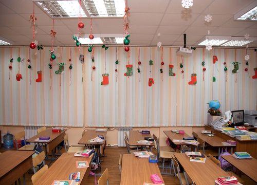 Топ идей как украсить школу к Новому году