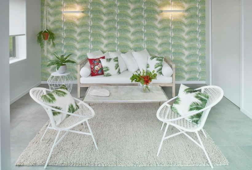 Тропический стиль интерьера — 30 фото дизайна