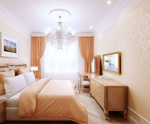 Варианты дизайна спальни персикового цвета