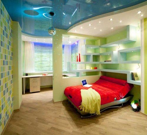 Варианты зонирования детской комнаты с помощью перегородок