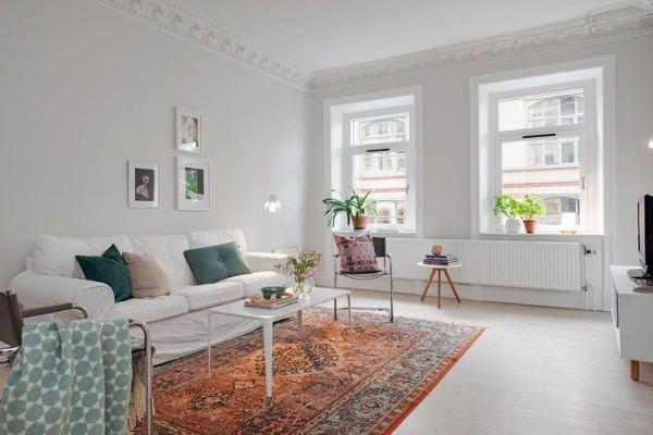 Виды современных ковров в интерьере гостиной и рекомендации по их выбору