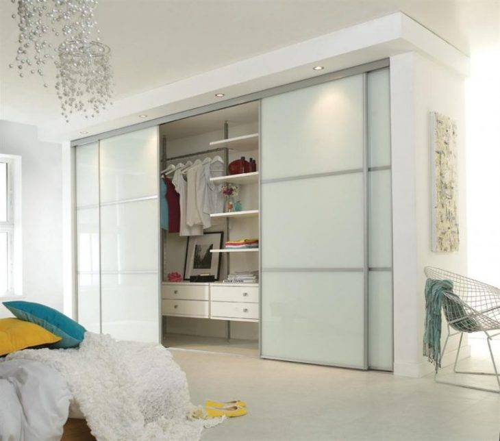 Встроенный шкаф купе в интерьере