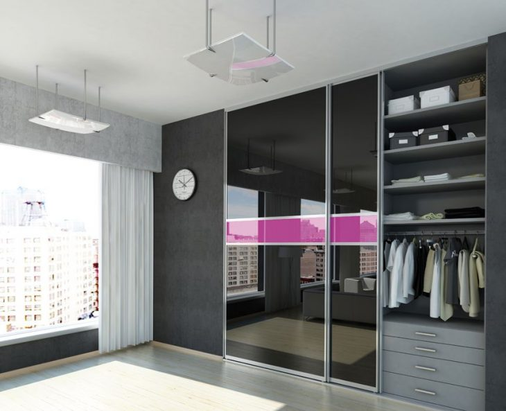 Встроенный шкаф купе в современном интерьере