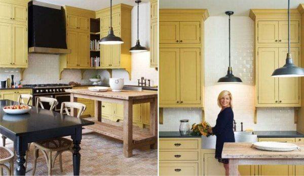 Желтая кухня в интерьере: влияние цвета, сочетание с другими оттенками, фото