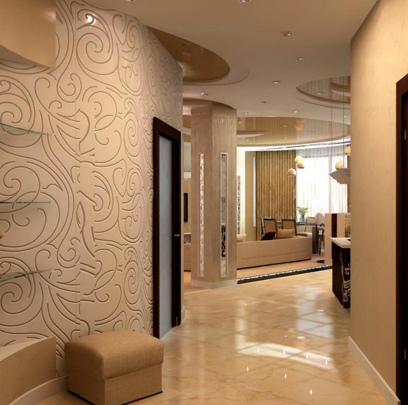 Дизайн комнаты с акриловыми обоями
